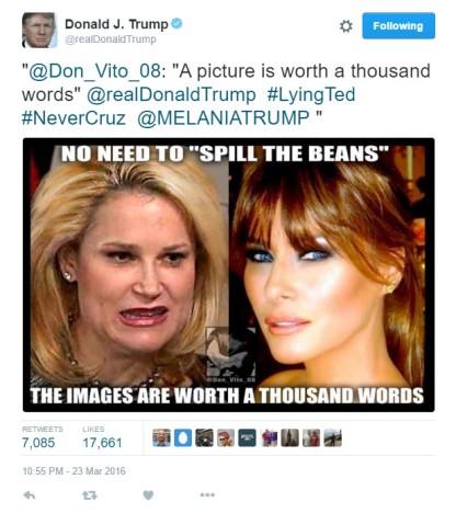 Trump tweet picture 1000 words