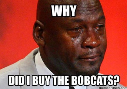 why did I buy the bobcats