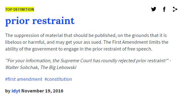 prior-restraint